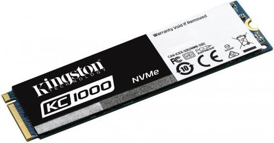 Твердотельный накопитель SSD M.2 240 Gb Kingston KC1000 Read 2700Mb/s Write 900Mb/s PCI-E SKC1000/24 ssd твердотельный накопитель 2 5 400gb intel dc p3700 series read 2700mb s write 1080mb s pci e ssdpe2md400g401