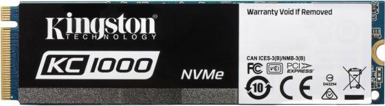 SSD накопитель Kingston KC1000 SKC1000H 960Gb PCI-E/M.2 2280 kingston kc1000 960gb ssd накопитель