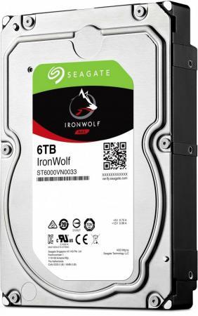 Жесткий диск 3.5 6 Tb 7200rpm 256Mb cache Seagate Ironwolf SATAIII ST6000VN0033 жесткий диск 3 5 8tb 7200rpm seagate ironwolf sataiii st8000vn0022