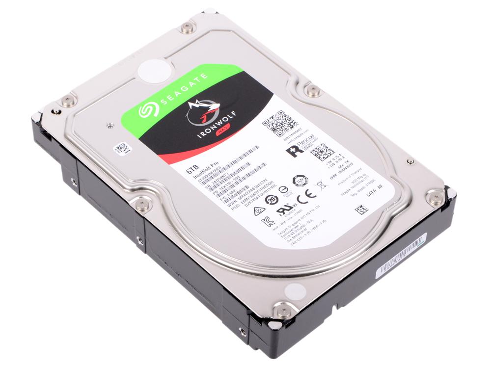 Жесткий диск Seagate Ironwolf Pro ST6000NE0023 6Tb SATA III/3.5/7200 rpm/256MB жесткий диск 10tb seagate ironwolf pro st10000ne0004