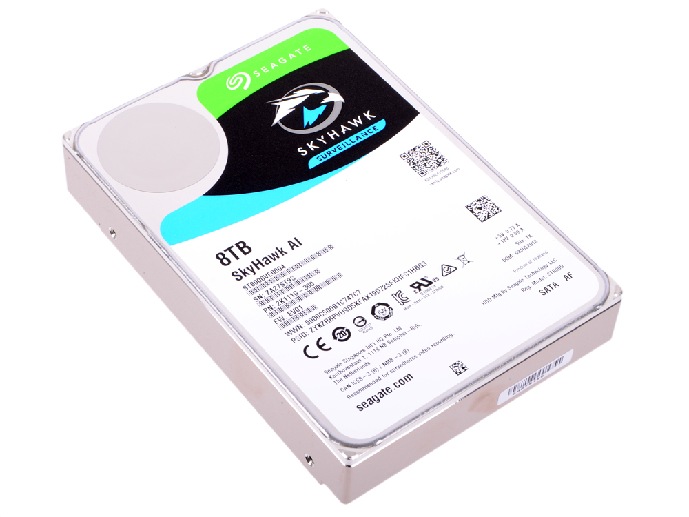 Жесткий дискSeagate SkyHawkAI ST8000VE0004 8Tb SATA III/3.5