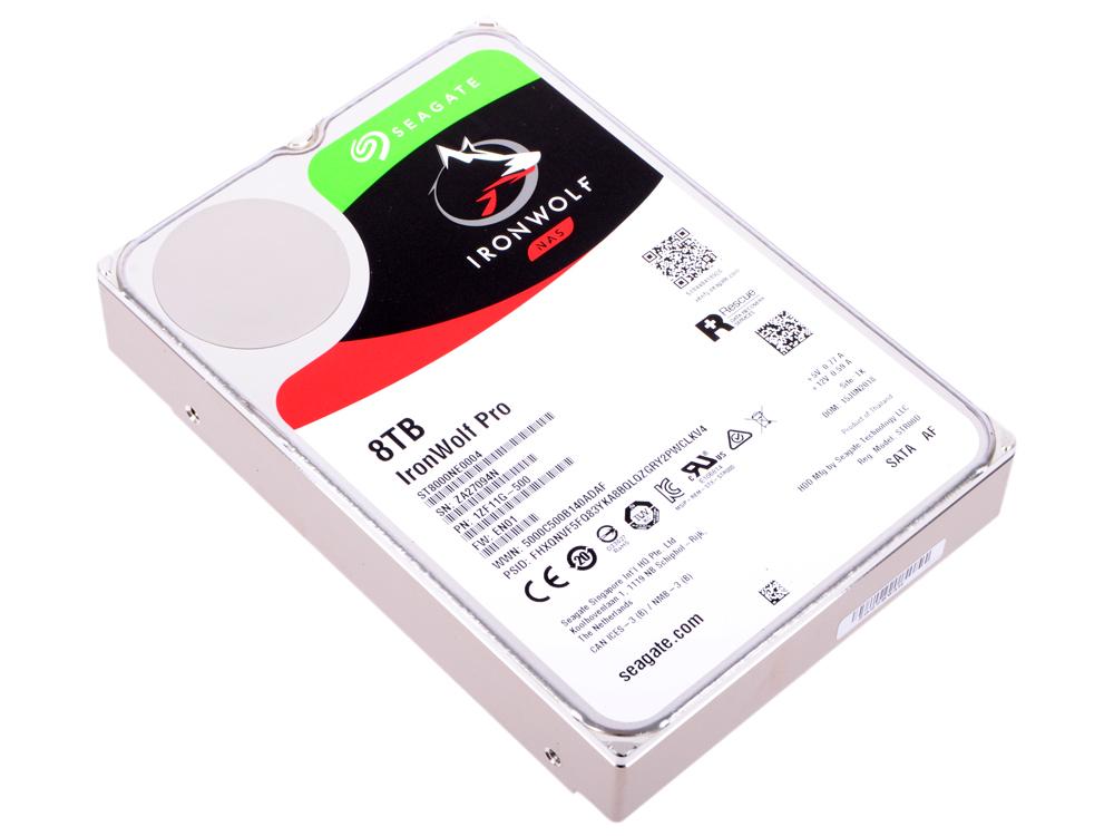 Жесткий диск Seagate Ironwolf Pro ST8000NE0004 8Tb SATA III/3.5/7200 rpm/256MB накопитель на жестком магнитном диске seagate жесткий диск hdd 8tb seagate ironwolf st8000vn0022 3 5 sata 6gb s 256mb 7200rpm