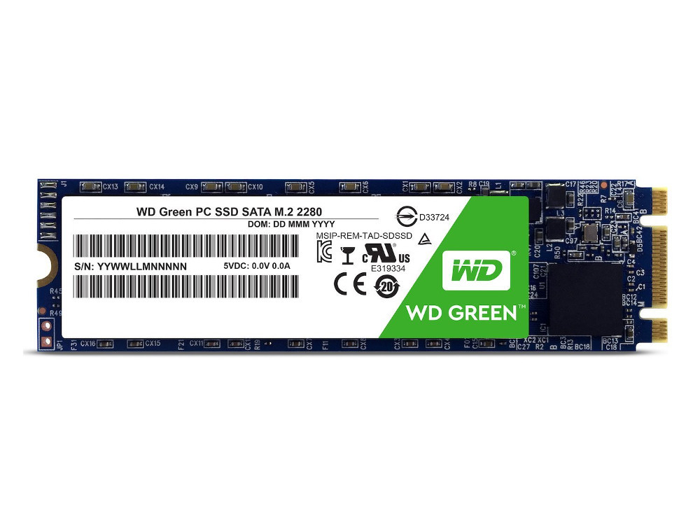 SSD накопитель Western Digital Green WDS2 240Gb SATA III/M.2 western digital wd green series интерфейс 120g m 2 твердотельный накопитель wds120g1g0b