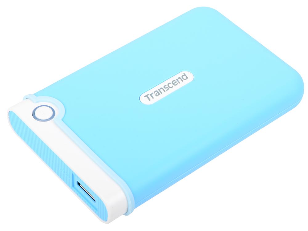 Внешний жесткий диск 2Tb Transcend StoreJet 25M3 Голубой TS2TSJ25M3B 2.5 USB 3.0 внешний жесткий диск transcend storejet 25m3 ts1tsj25m3 1тб черный