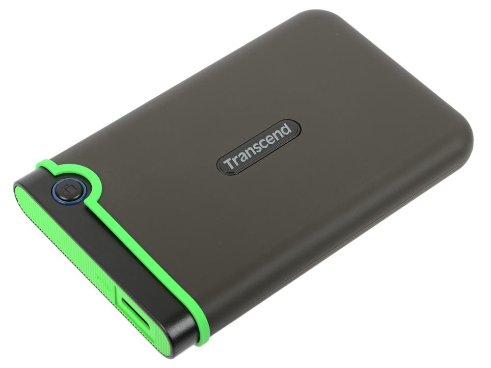 Внешний жесткий диск 1Tb Transcend StoreJet 25M3S серый TS1TSJ25M3S (2.5 USB 3.0) внешний жесткий диск 2 5 usb3 0 1tb transcend storejet 25d3 ts1tsj25d3w белый