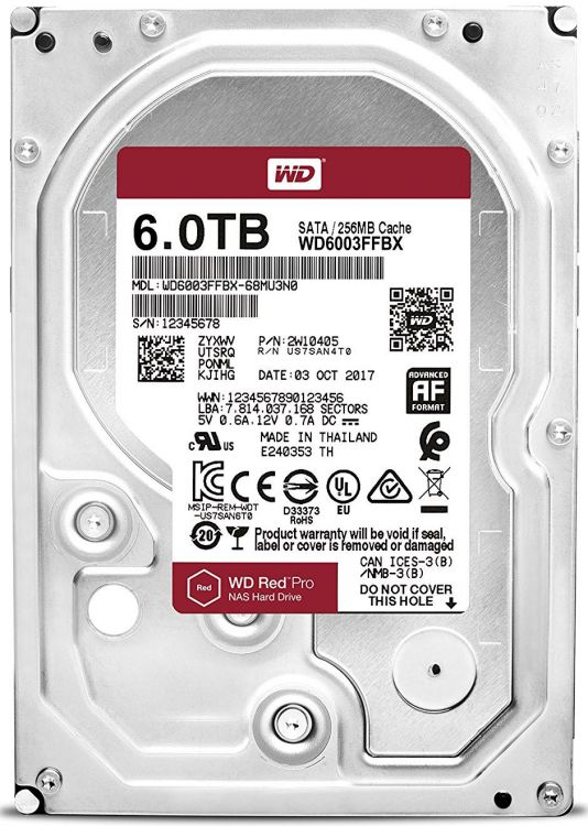 Жесткий диск WD Red Pro WD6003FFBX 6TB SATA III/3.5/7200 rpm/256MB жесткий диск wd red 6tb wd60efrx
