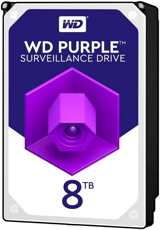 все цены на Жесткий диск WD Purple WD81PURZ 8TB SATA III/3.5