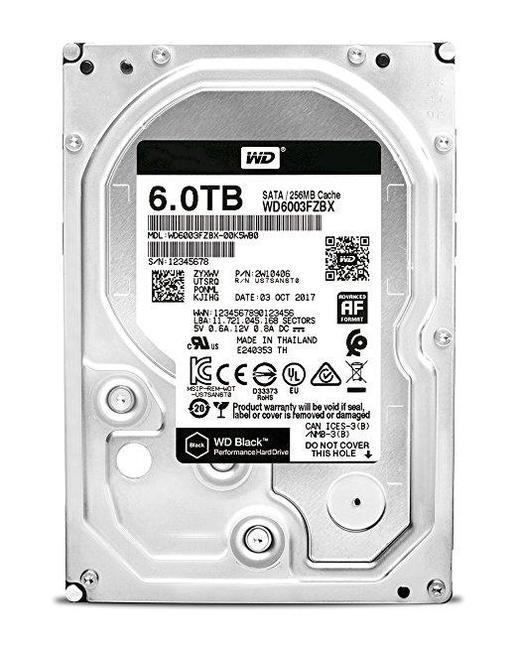 все цены на Жесткий диск WD Black WD6003FZBX 6TB SATA III/3.5