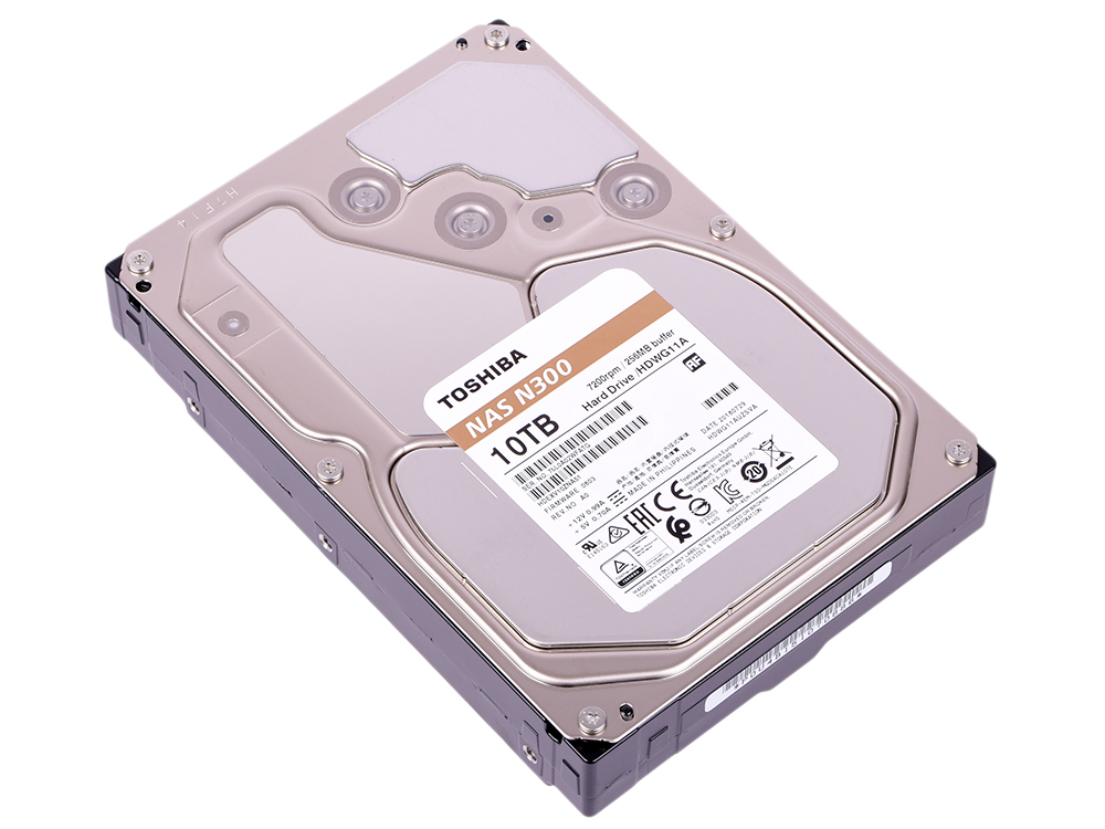Жесткий диск Toshiba N300 HDWG11AUZSVA 10TB SATA III/3.5