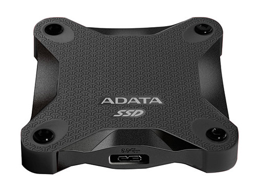 Внешний жесткий диск 256Gb SSD Adata SD600 Series Black (USB3.1, 440/430Mbs, 3D TLC, 80х15х80mm, 90g)