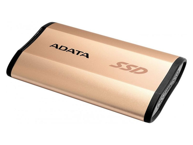 Внешний жесткий диск 256Gb SSD Adata SE730H Series Gold (USB 3.1 Type-C, 500/500Mbs, 3D TLC, IP68, 73х44х12mm, 33g)