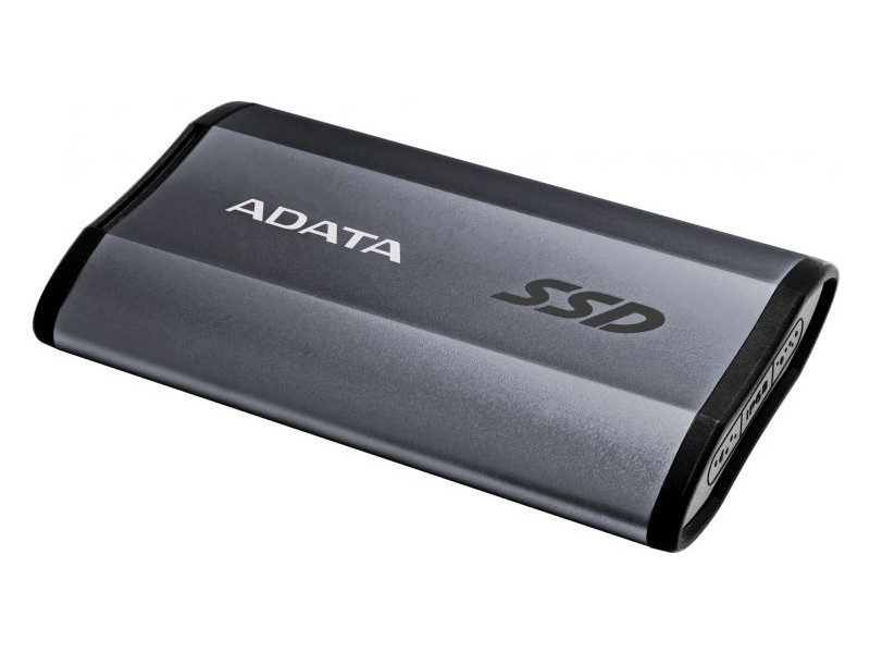 Внешний жесткий диск 256Gb SSD Adata SE730H Series Titanium (USB 3.1 Type-C, 500/500Mbs, 3D TLC, IP68, 73х44х12mm, 33g)