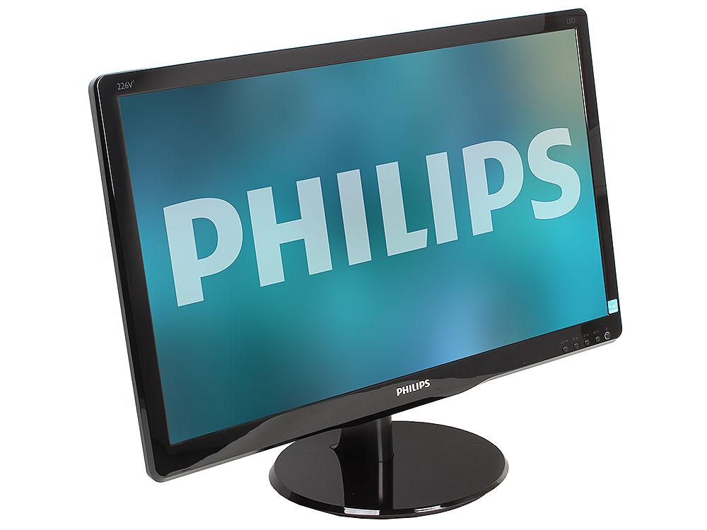 226V4LSB philips philips 226v4lsb 00 21 5 черный dvi full hd