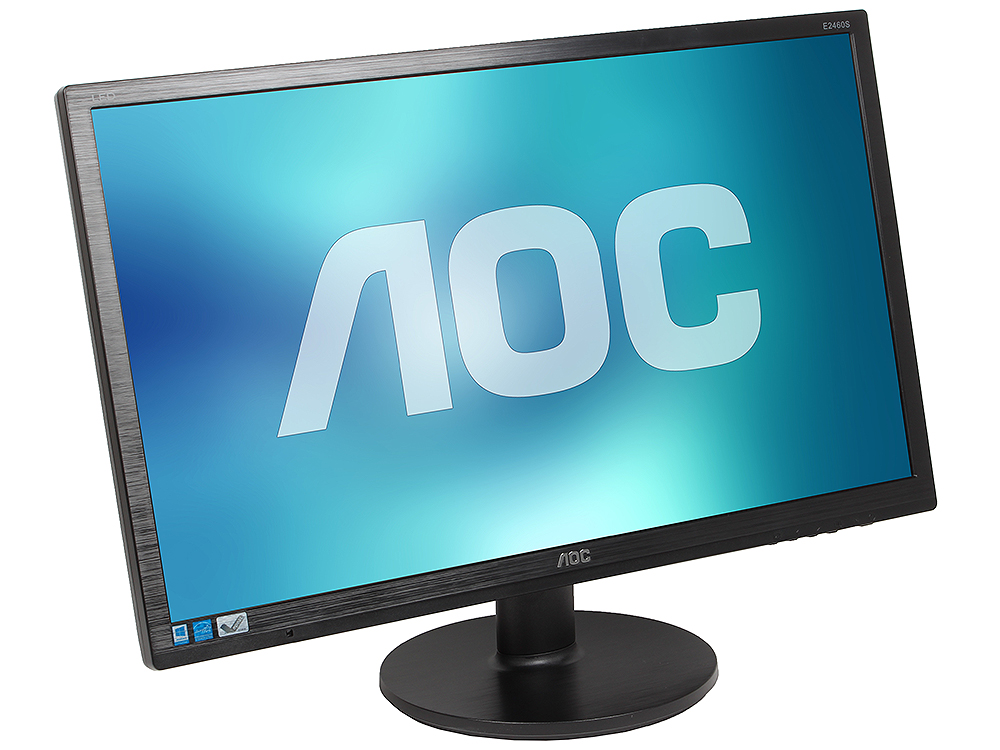 Монитор 24 AOC E2460SD2 Black 1920x1080, 1ms, 250 cd/m2, 1000:1 (DCR 20M:1), D-Sub, DVI, vesa монитор aoc i2276vwm 21 5 ips black