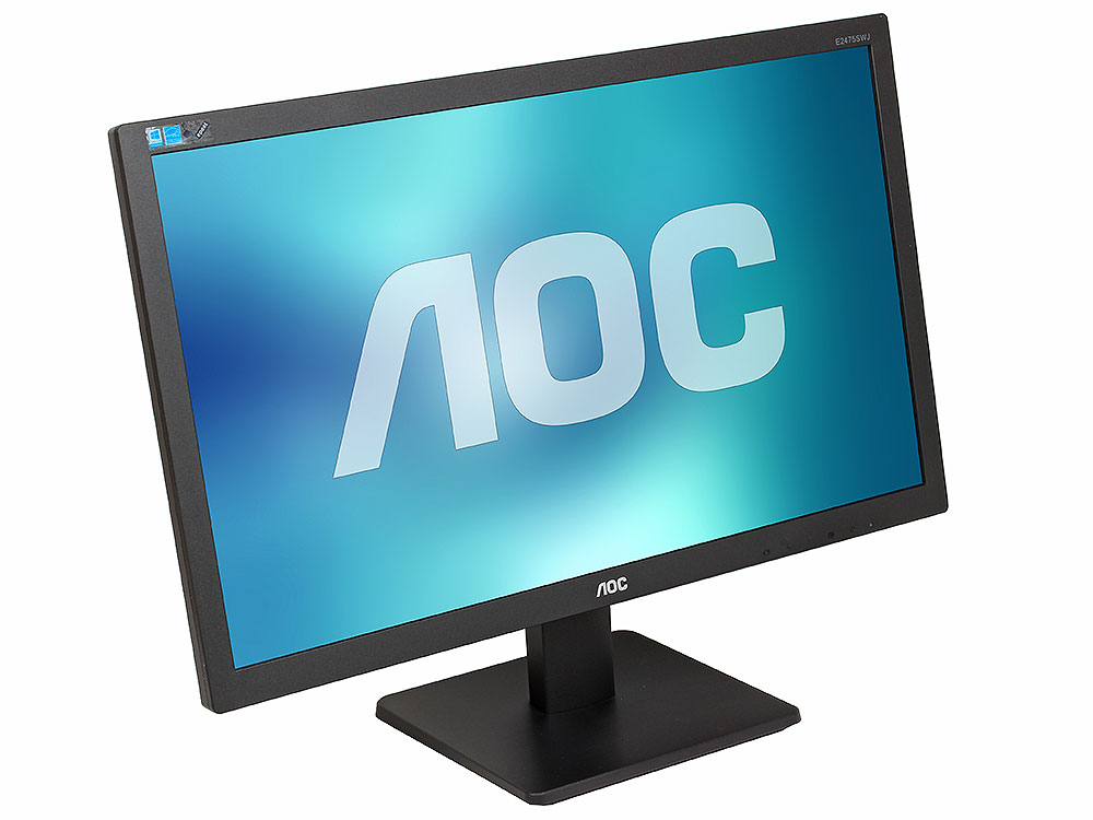 Монитор 23.6 AOC E2475SWJ Black 1920x1080, 2ms, 250 cd/m2, 1000:1 (DCR 50M:1), D-Sub, DVI, HDMI, 2Wx2, Headph.Out, vesa монитор aoc i2276vwm 21 5 ips black
