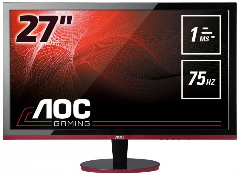 Монитор 27 AOC G2778VQ черный красный TFT-TN 1920x1080 300 cd/m^2 1 ms HDMI Аудио VGA DisplayPort монитор 21 5 aoc e2275pwqu черный tft tn 1920x1080 250 cd m^2 2 ms dvi hdmi displayport vga аудио