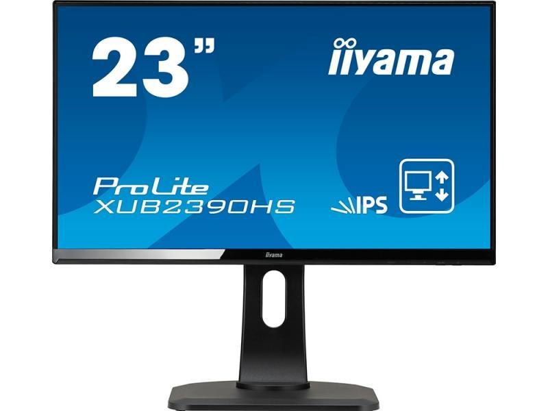 Монитор 23 iiYama ProLite XUB2390HS-B1 черный AH-IPS 1920x1080 250 cd/m^2 5 ms Аудио DVI HDMI VGA монитор 23 8 philips 240v5qdab черный ads ips 1920x1080 250 cd m^2 5 ms dvi hdmi vga аудио