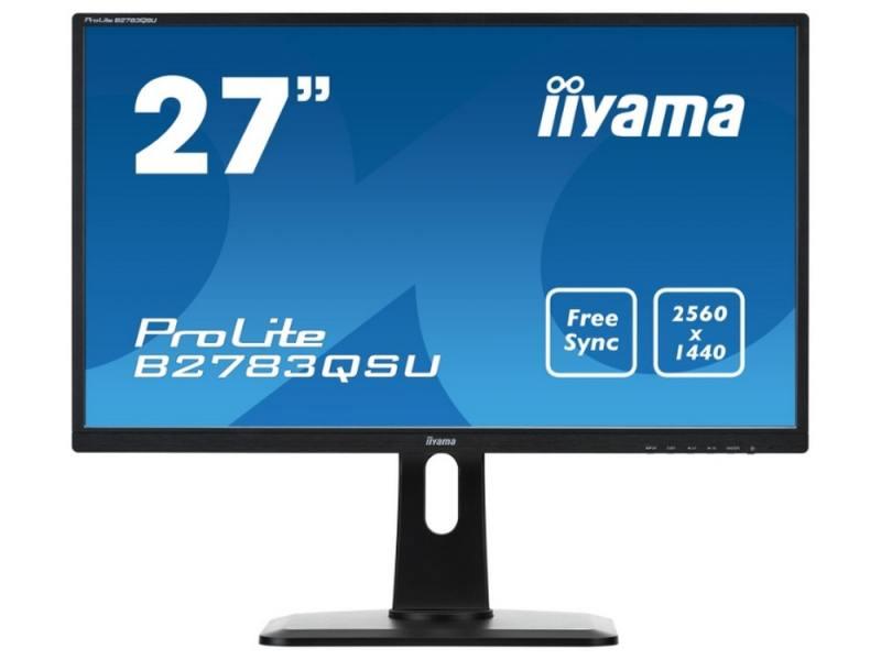 Монитор 27 iiYama B2783QSU-B1 черный TFT-TN 2560x1440 350 cd/m^2 1 ms DVI HDMI DisplayPort USB Ауди