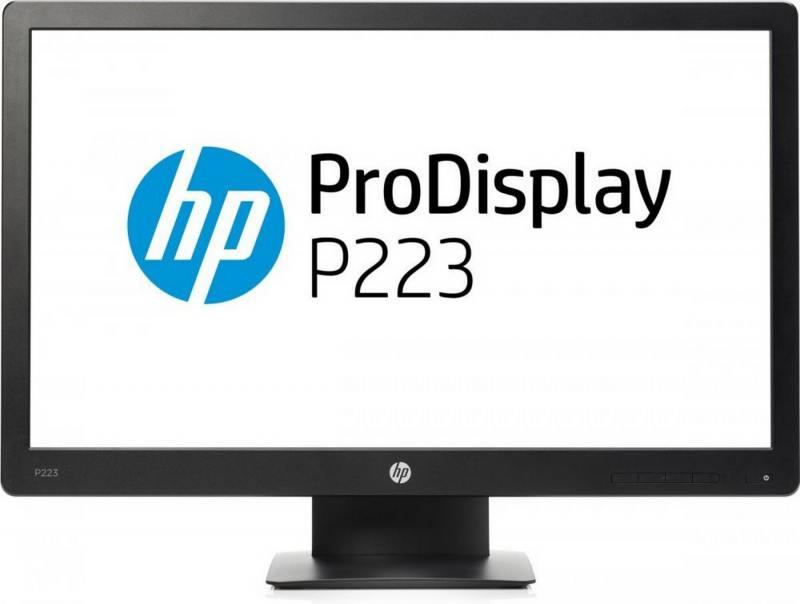 Монитор 21.5 HP ProDisplay P223 черный VA 1920x1080 250 cd/m^2 5 ms VGA DisplayPort