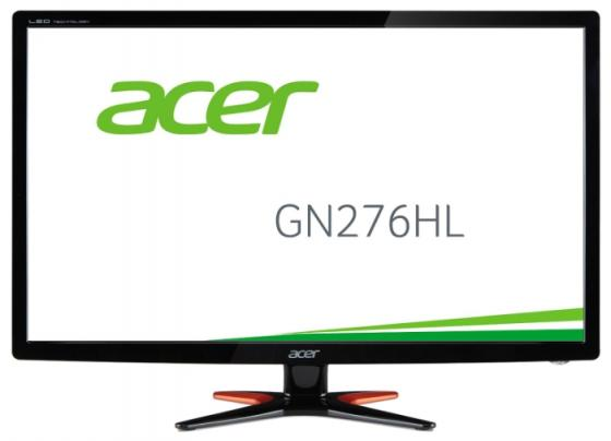 Монитор Acer GN276HLbid 27'' Black 1920x1080/TFT TN/1ms/VGA (D-Sub), DVI-D, HDMI wide angle digital 1 3mp cmos car dvr camcorder w hdmi tf black silver 2 0 tft lcd
