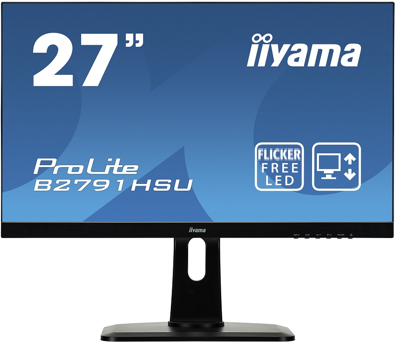 Монитор iiYama B2791HSU-B1 27 Black 1920x1080/TFT TN/1ms/VGA (D-Sub), DP, HDMI, 2Wx2, Headph.Out, VESA 100 pcs d sub 15 pin male solder type plug adapter vga connector serial ports db15m