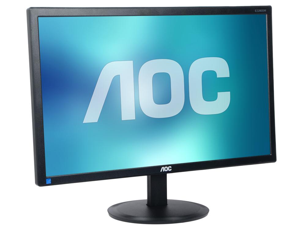 Монитор 21.5 AOC E2280SWHN Black 1920x1080, 5ms, 200 cd/m2, DCR 20M:1, D-Sub, HDMI, Headph.Out, vesa монитор aoc i2276vwm 21 5 ips black