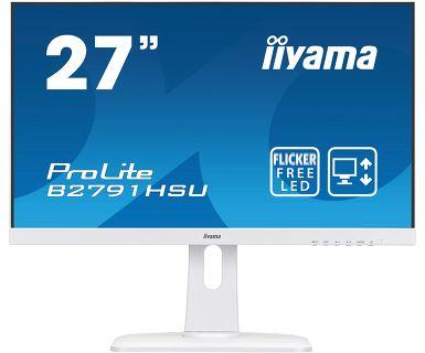 Монитор Iiyama 27 ProLite B2791HSU-W1 белый TN LED 1ms 16:9 HDMI M/M матовая HAS Pivot 300cd 170гр/ монитор dell 19 5 e2016hv черный tn led 5ms 16 9 матовая 600 1 200cd 170гр 160гр 1600x900 d sub displayport hd ready