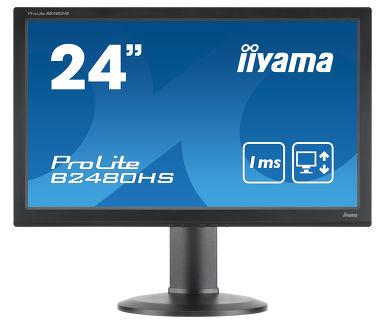 Монитор Iiyama 24 ProLite B2480HS-B2 черный TN LED 1ms 16:9 DVI HDMI M/M матовая HAS Pivot 1000:1 2 монитор 24 iiyama g master ge2488hs b2 tn led 1920x1080 1ms vga dvi hdmi