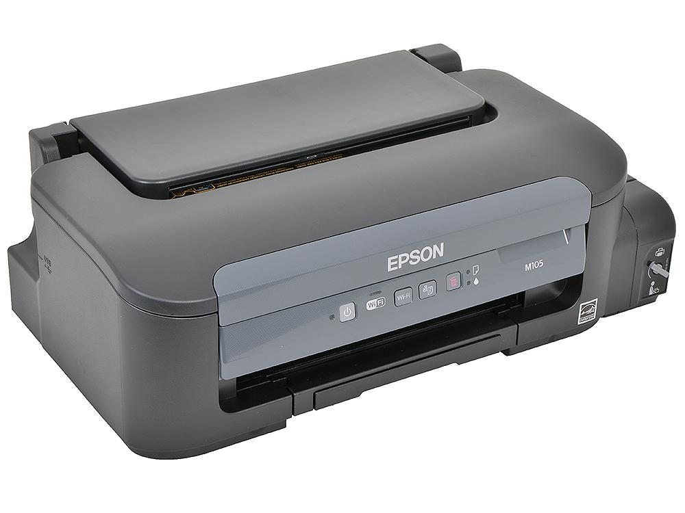 Принтер EPSON M105 (струйный,  монохромный, A4, 1440x720dpi, USB2.0, WiFi) принтер струйный epson l805