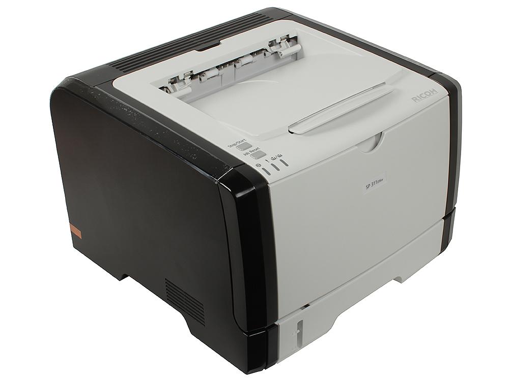 Принтер Ricoh Aficio SP 311DNw (Лазерный, 28 стр/мин, 1200х600dpi, duplex, LAN, WiFi, USB, А4) принтер ricoh aficio sp 311dnw ч б а4 28ppm wi fi
