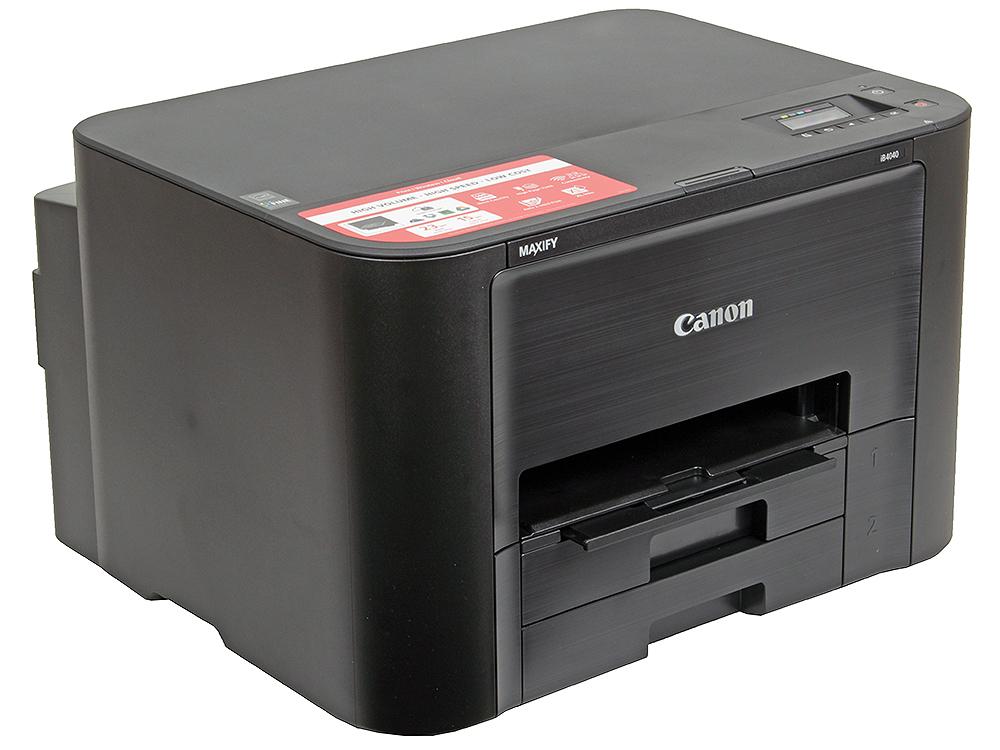 Принтер Canon MAXIFY iB4040 (струйный 23 стр./мин, 600 x 1200 dpi, А4, USB, WiFi, LAN)