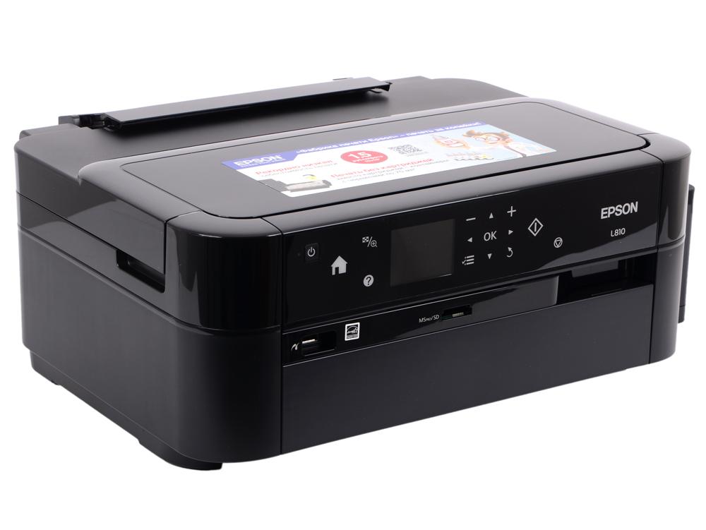 Принтер EPSON L810 (Фабрика Печати, 37ppm, 5760x1440dpi, струйный, A4, USB 2.0) принтер струйный epson l810 струйный цвет черный [c11ce32402]