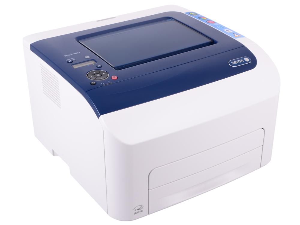 Принтер Xerox Phaser 6022 (A4, светодиодный цветной, 18 стр/мин, до 30K стр/мес, 256MB, PostScript 3 compatible, PCL5c/6, USB)