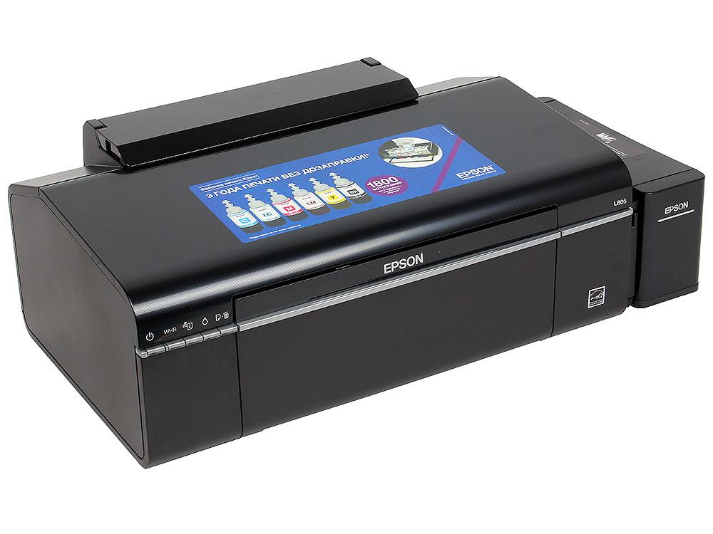 Принтер EPSON L805 (Фабрика Печати, 37ppm, 5760x1440dpi, струйный, A4, USB 2.0) принтер струйный epson l120 струйный цвет черный [c11cd76302]