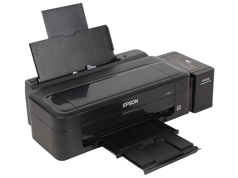 Принтер EPSON L132 (Фабрика Печати, 27стр./мин., 5760x1440 dpi, струйный, A4, USB 2.0) принтер струйный epson l120 струйный цвет черный [c11cd76302]