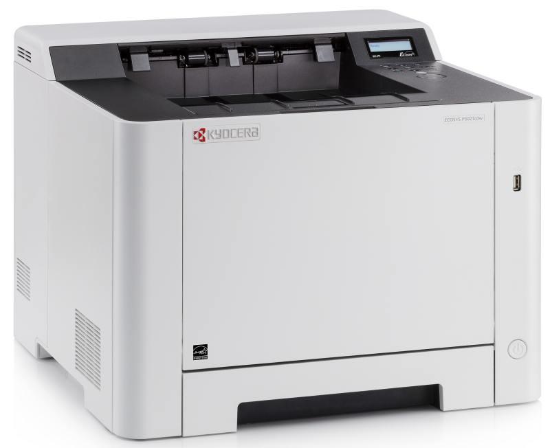 Принтер Kyocera P5021cdw (Лазерный, цветной, 21 стр./мин., дуплекс, Wi-fi, LAN, USB) лазерный принтер kyocera color p5021cdw