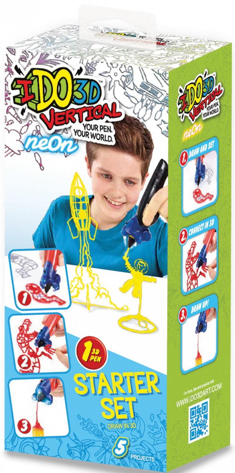 Ручка 3D Вертикаль REDWOOD 3D 1шт Космос неон желтый 3d ручка redwood вертикаль машинки blue 155837m