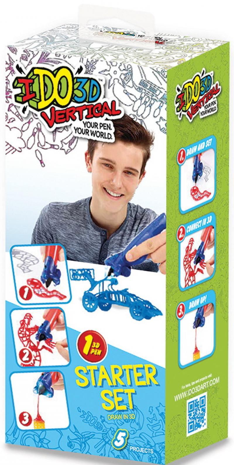 Ручка 3D Вертикаль REDWOOD 3D 1шт Машинки синий 3d ручка redwood вертикаль машинки blue 155837m