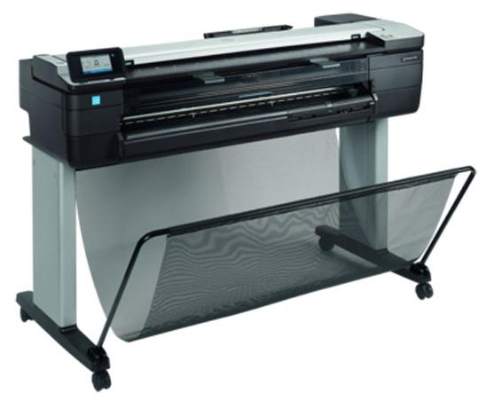 "Плоттер HP Designjet T830 36"" MFP принтер/сканер/копир, A0, 1Гб, USB, LAN, WiFi"