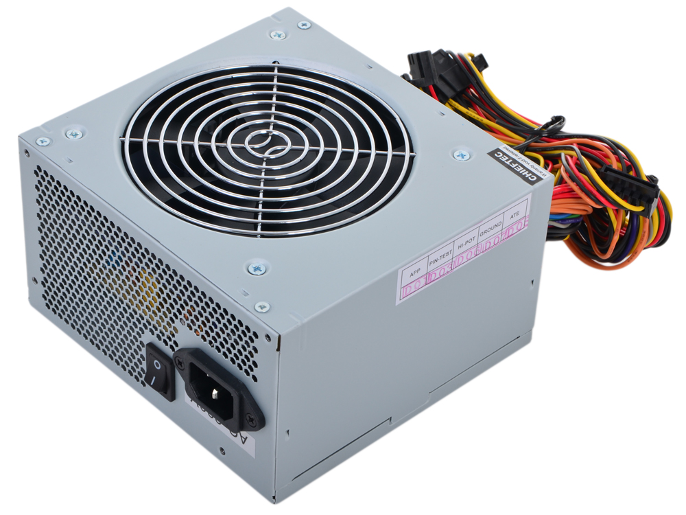 Блок питания Chieftec 400W OEM GPA-400S [iARENA] ATX v.2.3, A.PFC, 1x PCI-E (6+2-Pin), 3x SATA, 2x MOLEX, Fan 12cm