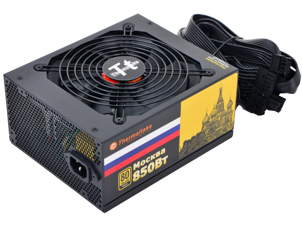 Блок питания Thermaltake Moscow 850W (W0428RE) v2.3,A.PFC,80 Plus Gold,Fan 14 см,Modular,Retail блок питания thermaltake amur 1200w apfc cm 80 gold w0430re