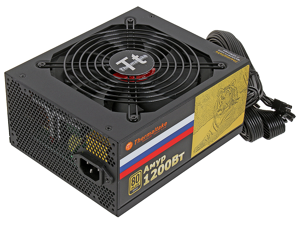 Блок питания Thermaltake Amur 1200W (W0430RE) v2.3,A.PFC,80 Plus Gold,Fan 14 см,Modular,Retail