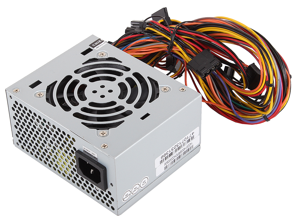 Блок питания Chieftec 450W OEM SFX-450BS [Smart] SFX v2.3, A.PFC, КПД>85%, 4x SATA, 2x MOLEX, 1x PCI-E (6-Pin), Fan 8 cm.