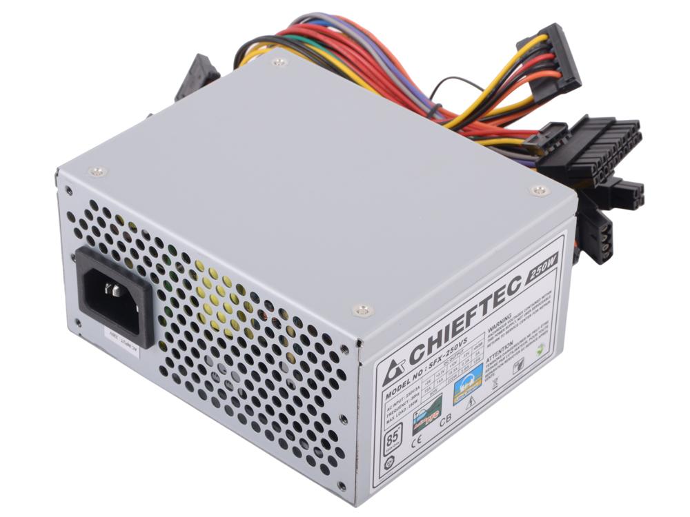 Блок питания Chieftec 250W OEM SFX-250VS [Smart] SFX, v2.3, A.PFC, КПД>85%, 2x SATA, 2x MOLEX, Fan 8 cm.