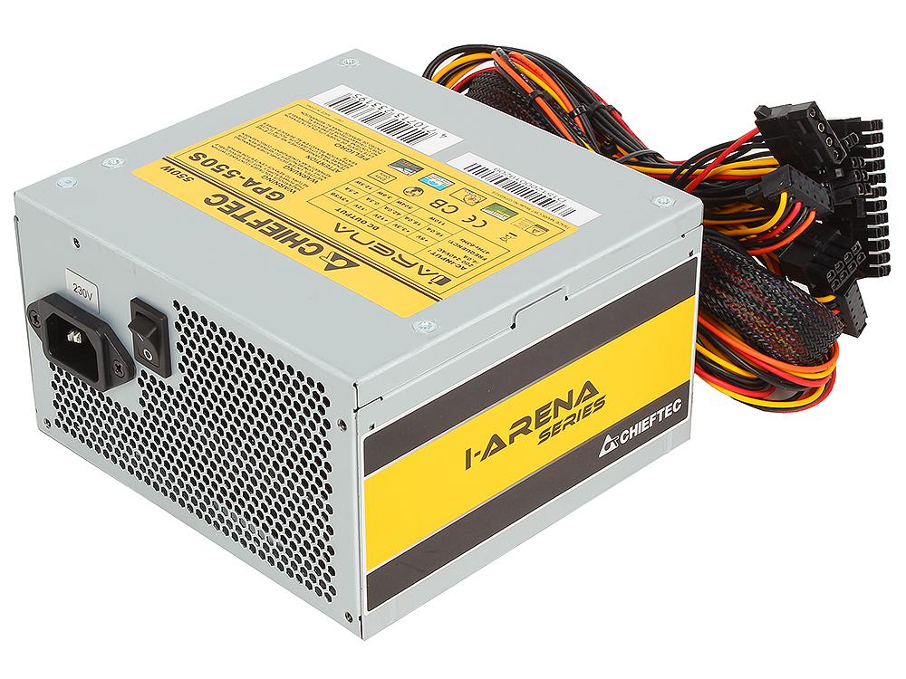 Блок питания Chieftec 550W OEM GPA-550S [iARENA] v.2.3, A.PFC, 2x PCI-E (6+2-Pin), 4x SATA, 2x MOLEX, Fan 12cm