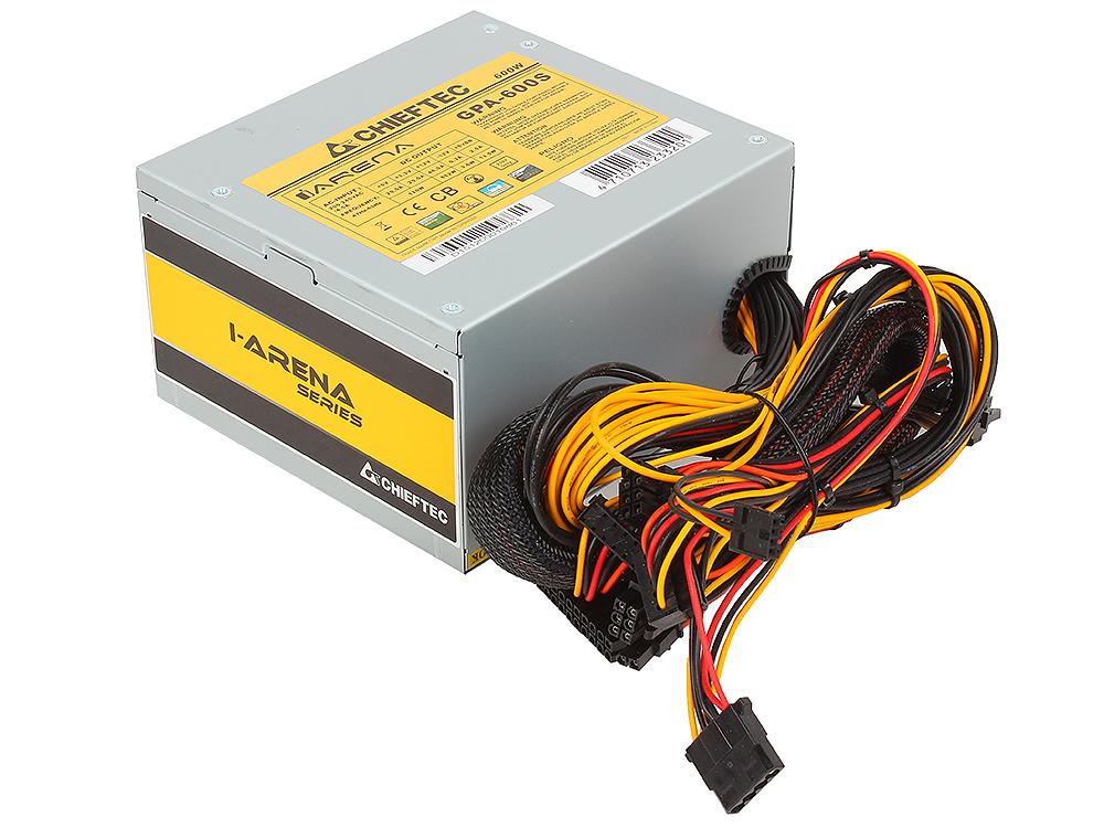 Блок питания Chieftec 600W OEM GPA-600S [iARENA] ATX v.2.3, A.PFC, 2x PCI-E (6+2-Pin), 4x SATA, 2x MOLEX, Fan 12cm