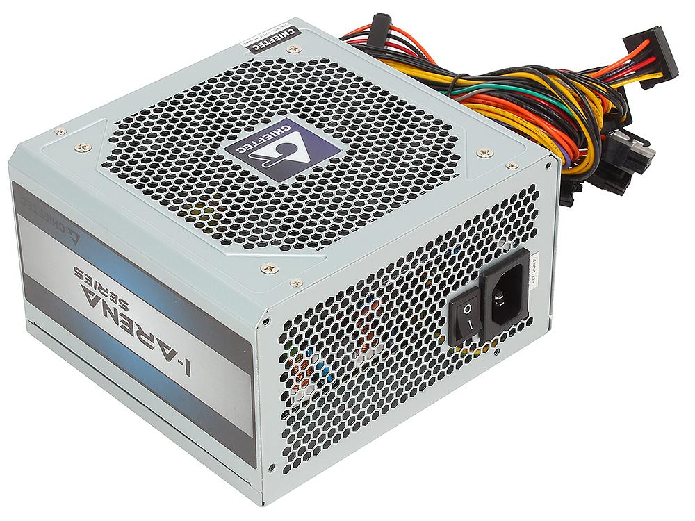 Блок питания Chieftec 450W OEM GPC-450S [iARENA] ATX v.2.3, КПД > 80%, A.PFC, 1x PCI-E (6+2-Pin), 4x SATA, 2x MOLEX, 4PIN 12V, Fan
