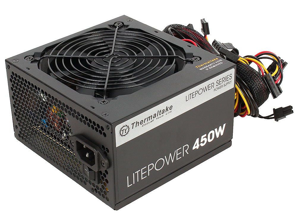 Блок питания Thermaltake Litepower 450W [PS-LTP-0450NPCNEU-2] блок питания lenovo thinkserver 450w gold hs redundant power supply for tower 67y2625