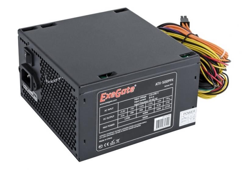 Блок питания ATX 500 Вт PowerCool PC500-120-O