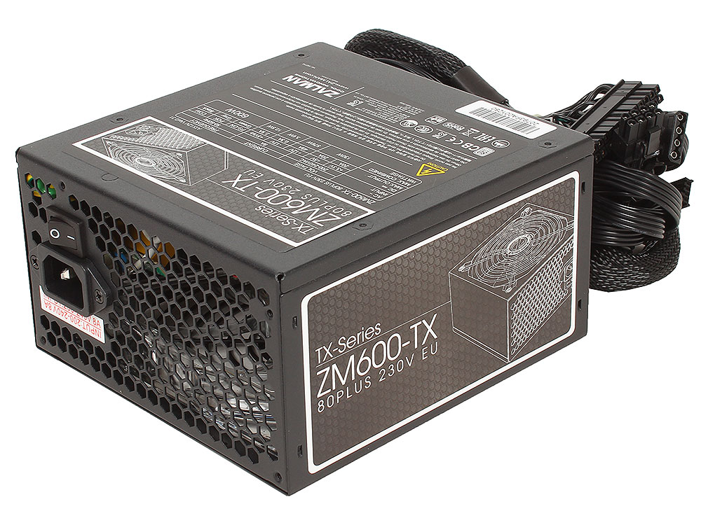 Блок питания Zalman 600W ZM600-TX v2.31, A.PFC, Fan 14 cm, Retail. Производитель: Zalman, артикул: 0377807